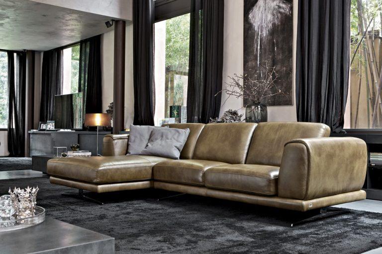Denver leather sofa doimo salotti