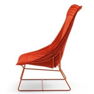 varaschin chapeau bergere chair orang red