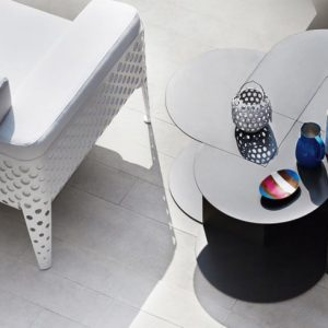 pois lounge chair white varaschin