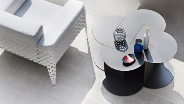 pois lounge chair white varaschin