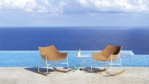 summerset rocking chairs Varaschin orange
