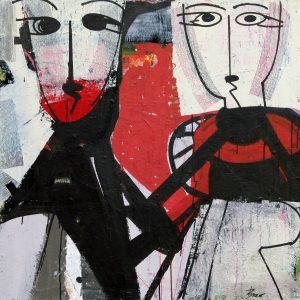 JEAN CLAUDE BREAT PROMENADE D'ARTISTE 95X95