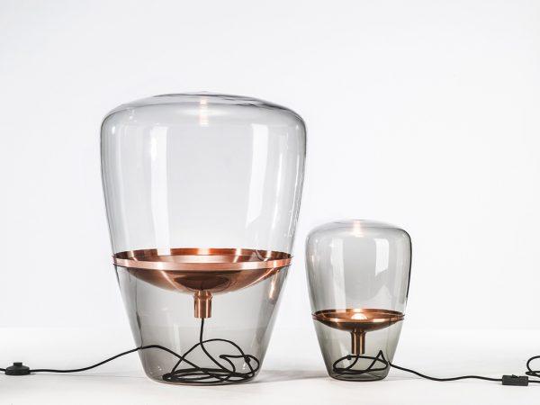 BALLOONS Large Brokis PC858 designer lamp smokegrey copper