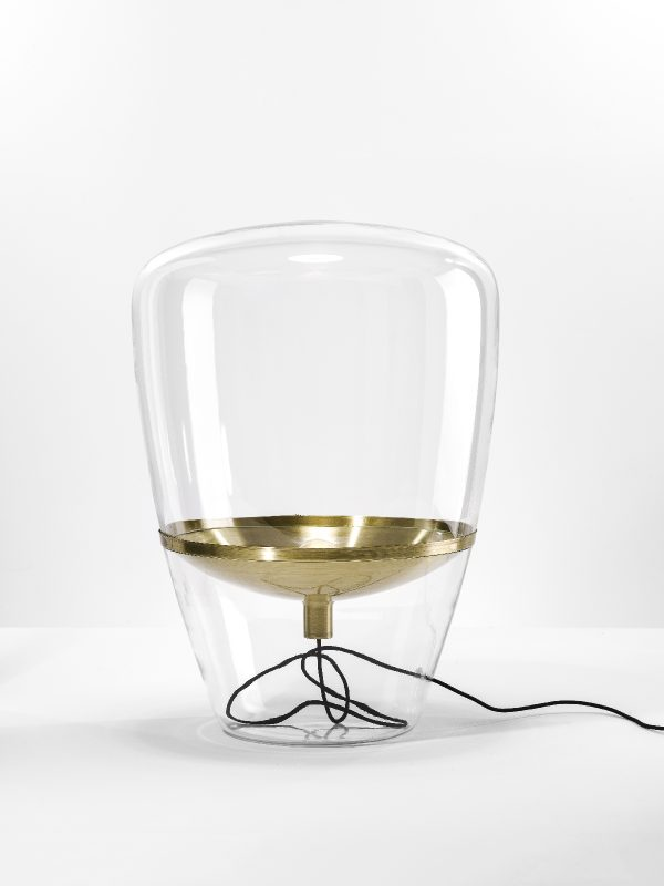 BALLOONS Large Brokis PC858 floor and table lamp transparent brass