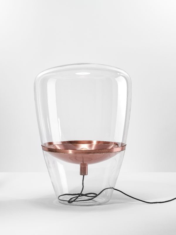 BALLOONS Large Brokis PC858 floor and table lamp transparent copper surface