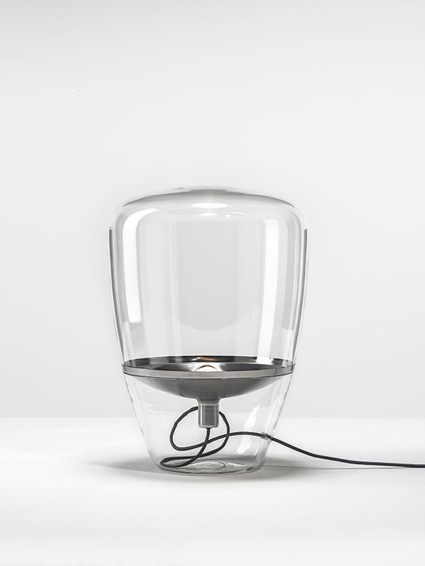 BALLOONS Large Brokis PC858 floor designer lamp transparent chrome