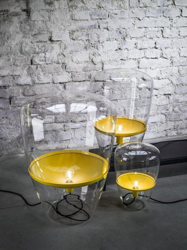 BALLOONS Large Brokis PC858 floor designer lamp transparent yellow