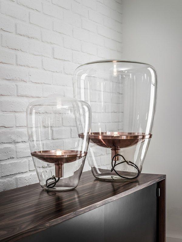 BALLOONS Medium Brokis PC857 designer lighting transparent glass copper surface