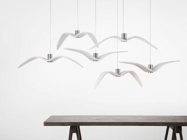 Brokis NIGHT BIRDS White PC962 PC963 PC964 Suspension lamps