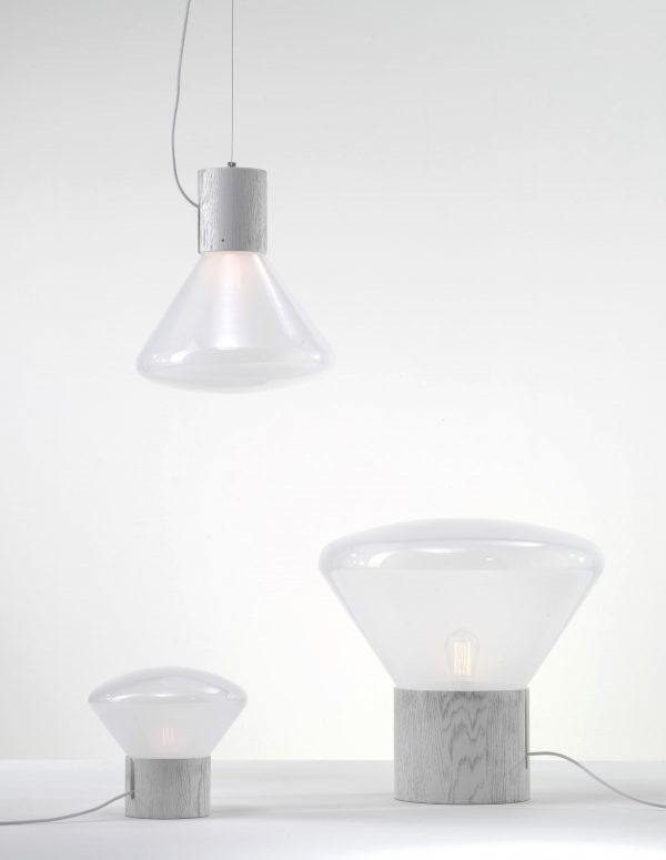 MUFFINS wood 03b Brokis PC851 suspension lamp white
