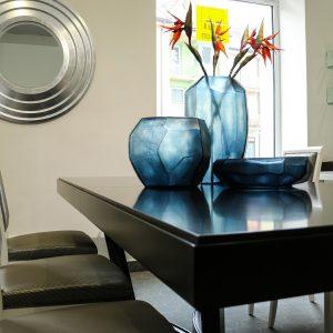 GUAXS Interior accesories cubistic indigo vase