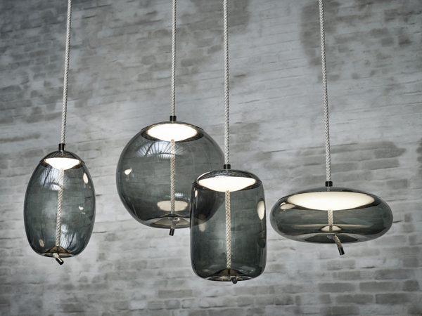 Pendant lamps KNOT Brokis Smokegrey Chrome black PC1019 PC1017 PC1016 PC1018