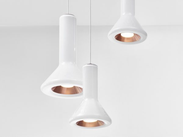 WHISTLE Set Brokis PC961 pendant lamp opaline brass