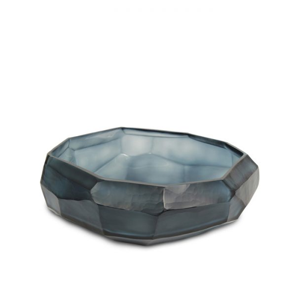 cubistic bowl indigo Guaxs mouthblown glass