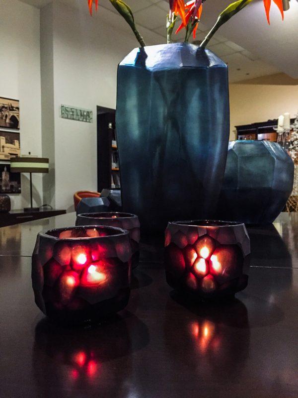 GUAXS YAVA TEALIGHT light amethyst glass
