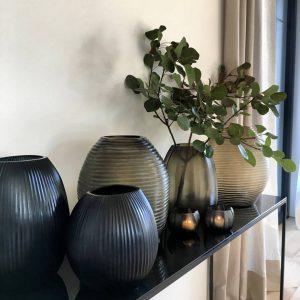 nagaa dark indigo guaxs vases decoration
