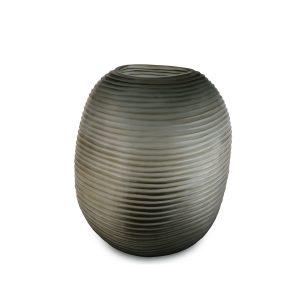 patara round smokegrey guaxs glass vase