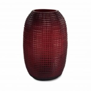 triada tall red guaxs vase