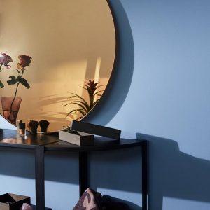 AYTM Circum round mirror amber shade