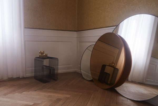 AYTM Circum round mirrors amber clear design