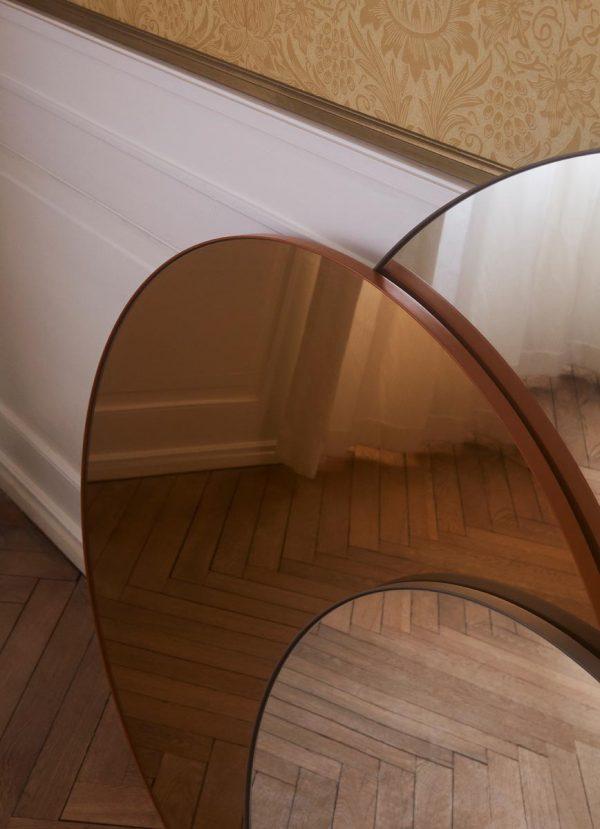AYTM Circum round mirrors amber clear designs