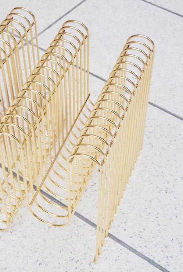 AYTM Curva Magazine holder gold style