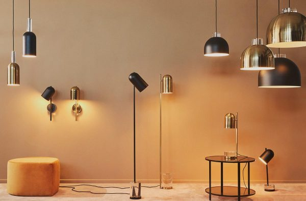 AYTM Luceo Lamps Gold Black matt