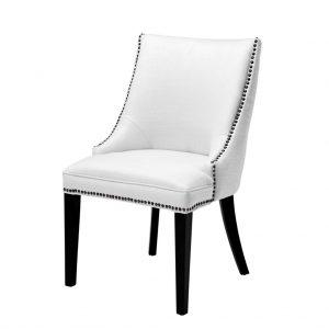 Bermuda dining chair cream white Eichholtz