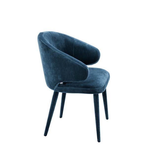 Cardinale dining chair blue 2 Eichholtz
