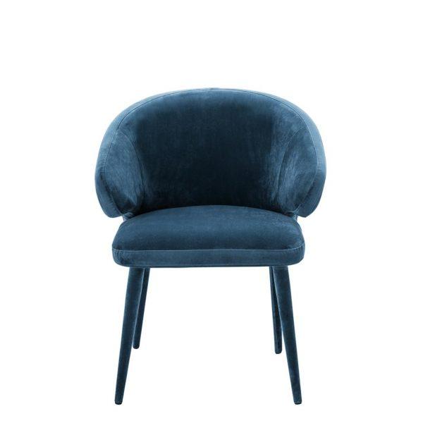 Cardinale dining chair blue 3 Eichholtz