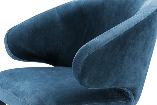 Cardinale dining chair blue 4 Eichholtz