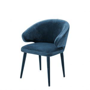 Cardinale dining chair blue Eichholtz