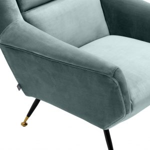 Exile chair turquoise 5 Eichholtz