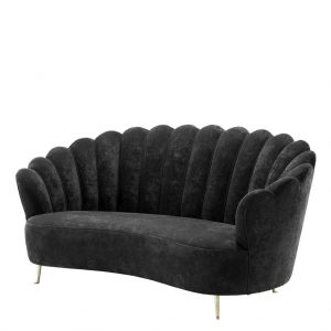 Messina sofa black Eichholtz