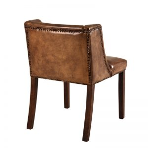 St. James dining chair tobacco leather 2 Eichholtz