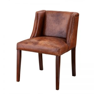 St. James dining chair tobacco leather Eichholtz