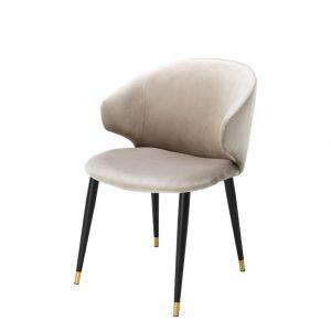 Volante dining chair with arm beige Eichholtz