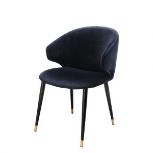 Volante dining chair with arm blue Eichholtz