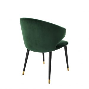 Volante dining chair with arm green 3 Eichholtz