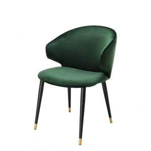 Volante dining chair with arm green Eichholtz