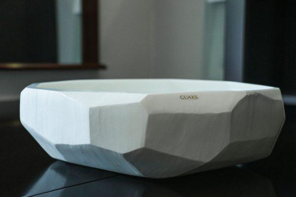 guaxs cubitic opal bowl white