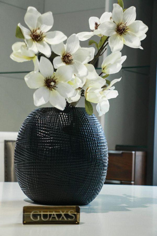 guaxs vase black gournia