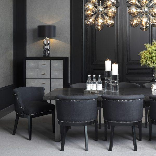 BOCA GRANDE BLACK chair EICHHOLTZ