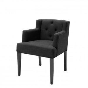 BOCA RATON ARM BLACK Dining chair EICHHOLTZ