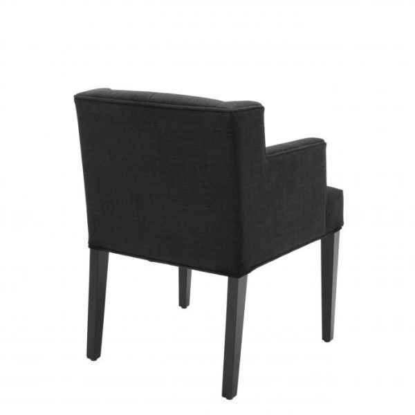 BOCA RATON BLACK Dining chair with arm EICHHOLTZ