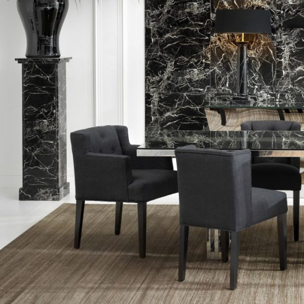 BOCA RATON BLACK chairs with arm EICHHOLTZ