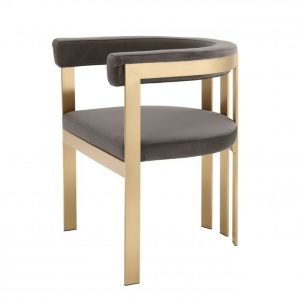 CLUBHOUSE BRASS Dining chair EICHHOLTZ