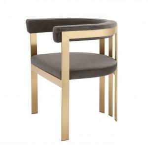 CLUBHOUSE BRASS Dining chair EICHHOLTZ