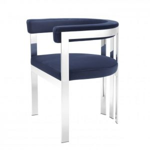 CLUBHOUSE STEEL Dining chair EICHHOLTZ