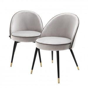 COOPER SET OF 2 LIGHT GREY Dining chair EICHHOLTZ